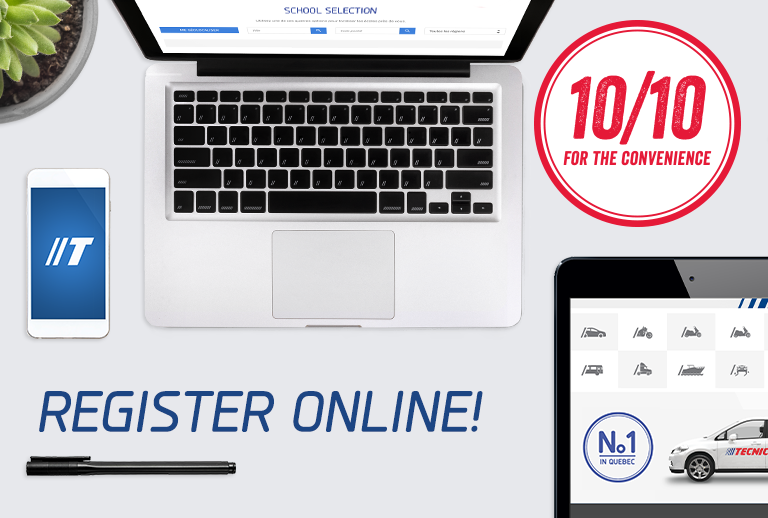 Register online with just a few clicks