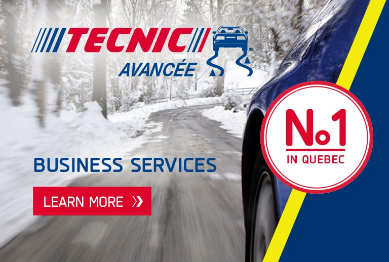 Tecnic defensive driving course on slippery surfaces